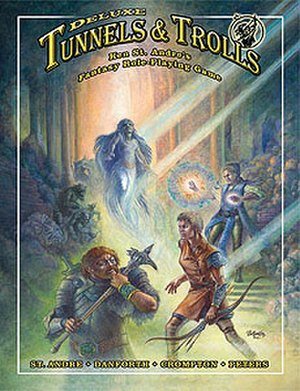 Tunnels & Trolls - Image: Deluxe Tunnels & Trolls cover by Liz Danfroth