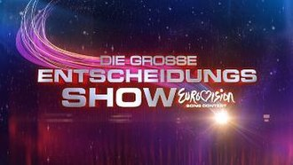 """Switzerland in the Eurovision Song Contest 2011 - The logo of """"Die grosse Entscheidungs Show""""."""