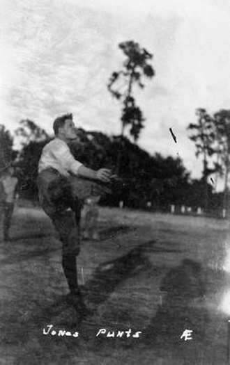 Edgar C. Jones - Edgar Jones punting.