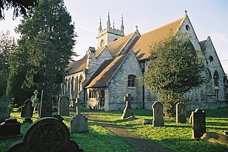 St Mary's Church, Ewell - Image: Ewell St Mary from SE 01