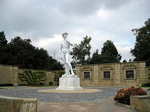 Forest Lawn Memorial Park (Glendale) - A copy of Michelangelo's David