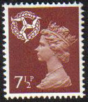 Country definitives - Isle of Man 7½p regional issue of 1971