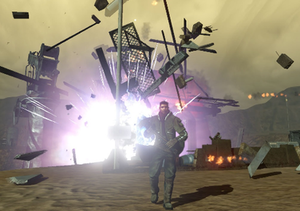 Red Faction: Guerrilla - Geo-Mod 2.0 technology was used in the game to create dynamically destructible buildings and environments