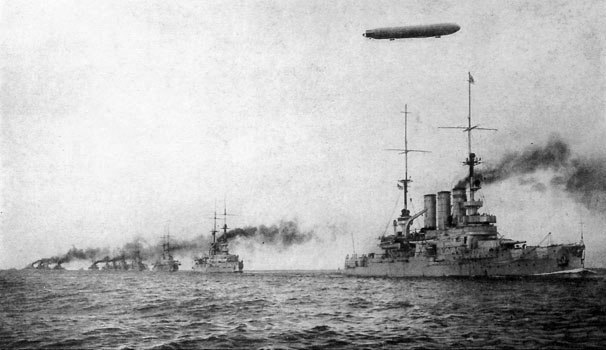 German High Seas Fleet (Hoschseeflotte) during World War I