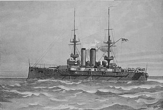 Canopus-class battleship - Illustration of Canopus in 1900, by Fred T. Jane