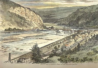 Loudoun County in the American Civil War - View of Loudoun Heights from Harpers Ferry