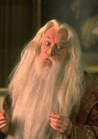 Albus Dumbledore - Dumbledore as portrayed by Richard Harris in Harry Potter and the <!-- Sorcerer's Stone is the American variant and we use the international titles on Wikipedia. -->Philosopher's Stone.