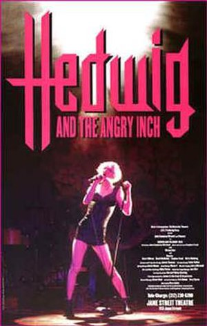 Hedwig and the Angry Inch (musical) - Original Off-Broadway poster art