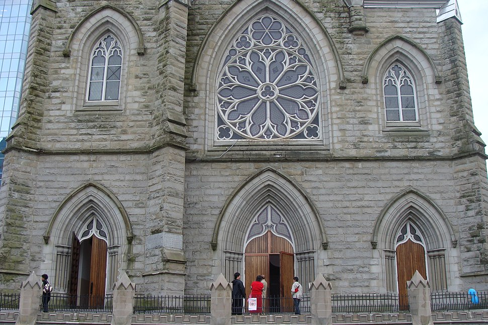 Holy Rosery Cathedral main entrances