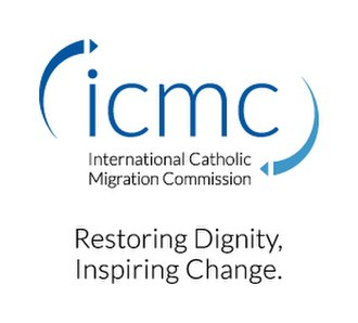International Catholic Migration Commission - Image: ICMC colour logo with tagline 2015