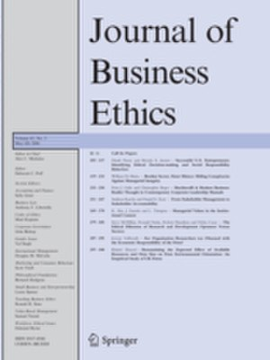 Journal of Business Ethics - Image: Journal of Business Ethics
