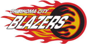 Oklahoma City Jr. Blazers - Oklahoma City Blazers logo from 2014 to 2017.
