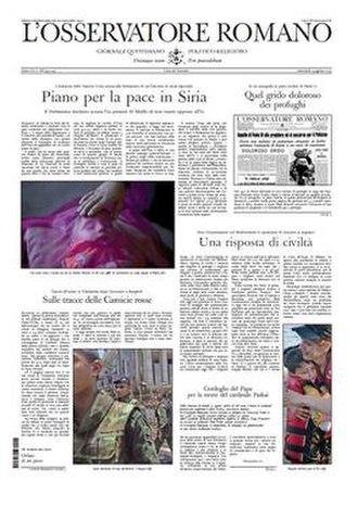 L'Osservatore Romano - Image: Losservatore Romano 19 August 2015