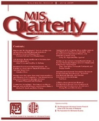 Management Information Systems Quarterly - Image: MIS Quarterly low res cover