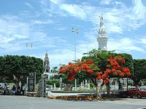 Jamay - The main square of Jamay, Jalisco