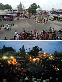 Muthur Town in Tamil Nadu, India