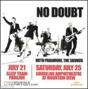2009 Summer Tour - Image: No Doubt 2009Tour Minibill