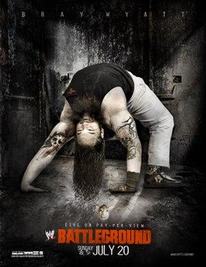 Battleground (2014) - Promotional poster featuring Bray Wyatt
