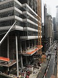 Construction work at One Vanderbilt, seen in October 2018