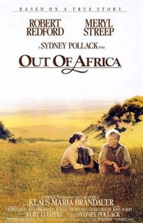 <i>Out of Africa</i> (film) 1985 film by Sydney Pollack