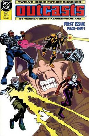 Outcasts (DC Comics) - Cover art for the first issue of Outcasts, published by DC Comics in 1987.
