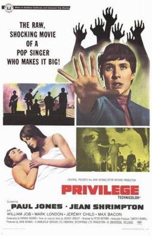Privilege (film) - Image: Privilege Film Poster