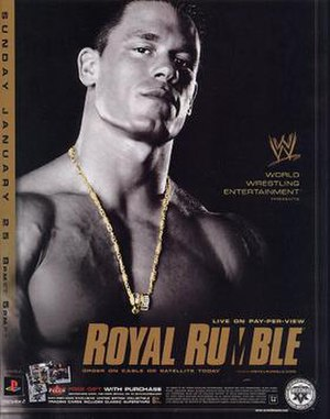 Royal Rumble (2004) - Promotional poster featuring John Cena