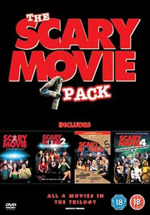 Scary Movie (film series) - Region 2 DVD Box cover for the first four films