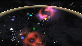 Spore (2008 video game) - In the Space Stage, the player has access to a galactic map for interstellar travel.