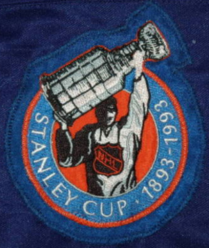 1992–93 NHL season - Commemorative patch celebrating the 100th anniversary of the Stanley Cup