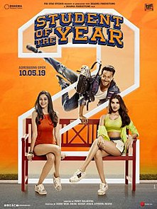 <i>Student of the Year 2</i> 2018 film directed by Punit Malhotra