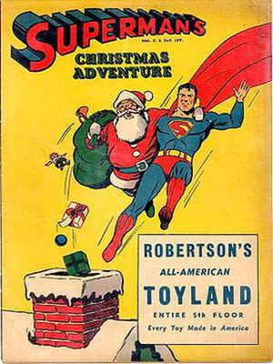 Fred Ray - Superman's Christmas Adventure (1940), Ray's first Superman cover