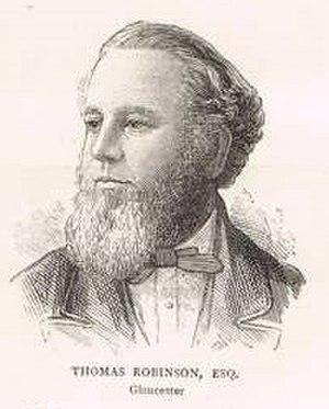 Thomas Robinson (Gloucester MP) - Robinson in 1880