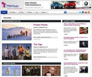 TV Pixie - Image: TV Pixie Homepage