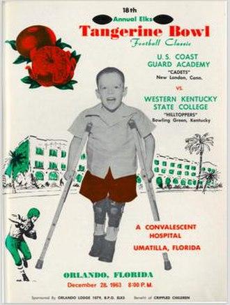 1963 Tangerine Bowl - Program cover for 1963 game