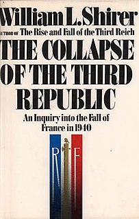 <i>The Collapse of the Third Republic</i> book by William L. Shirer