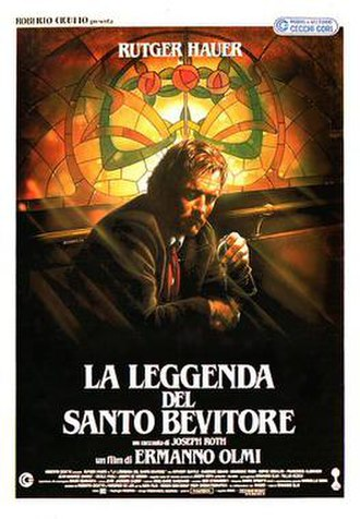 The Legend of the Holy Drinker (film) - Theatrical release poster by Renato Casaro