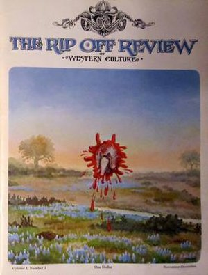 The Rip Off Review of Western Culture - Cover art of the third issue, November/December 1972, Painting by Jim Franklin.