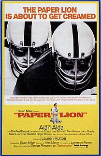 <i>Paper Lion</i> (film) 1968 film by Alex March