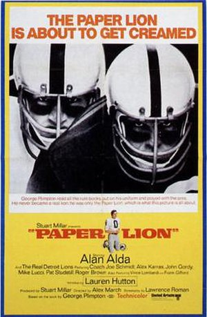 Paper Lion (film) - Theatrical release poster