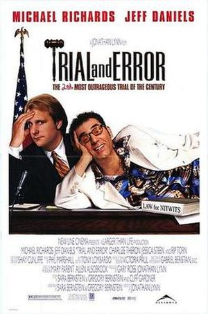 Trial and Error (1997 film) - Theatrical release poster