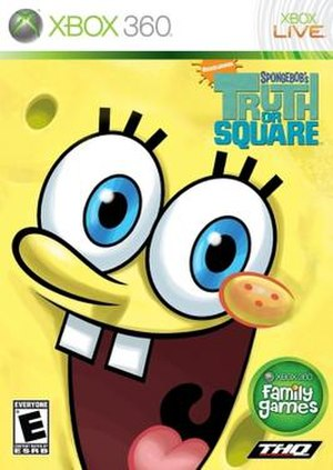SpongeBob's Truth or Square (video game) - North American Xbox 360 cover