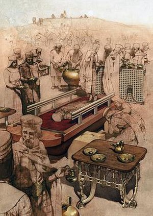 Phrygians - Phrygian funeral ceremony in Gordium, imagined after a scene from the Gordion Furniture and Wooden Artifacts.