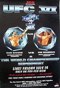 A poster or logo for UFC 6: Clash of the Titans.