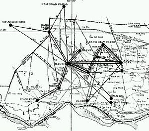 NLF and PAVN battle tactics - VC camp and movement network in one SVN district, 1966-67.
