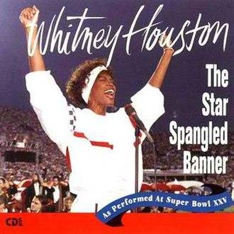 The Star Spangled Banner (Whitney Houston recording) - Image: Whitney houston the star spangled banner single