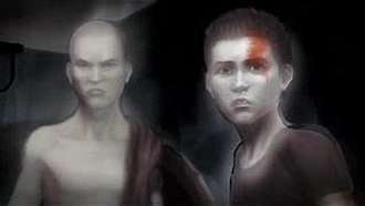 Kratos (God of War) - Kratos (left) and Deimos (right) as boys in a flashback scene from God of War: Ghost of Sparta.