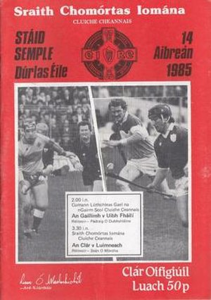 1984–85 National Hurling League - Image: 1984–85 National Hurling League final prog