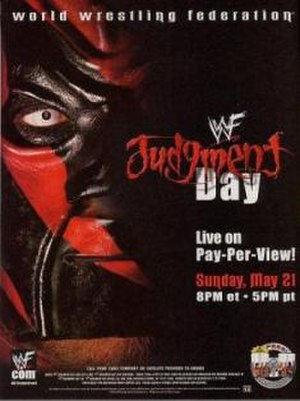 Judgment Day (2000) - Promotional poster featuring Kane (who did not appear at the event)