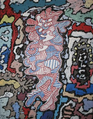 Jean Dubuffet - Jean Dubuffet, Court les rues, 1962, Milwaukee Art Museum, Milwaukee, WI. An example of a non-painterly Dubuffet painting